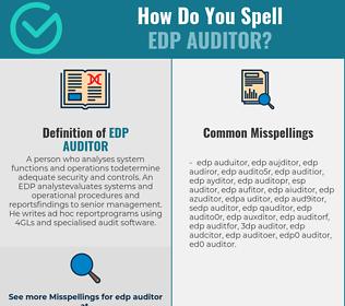 Correct spelling for EDP auditor