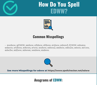 Correct spelling for EDWW