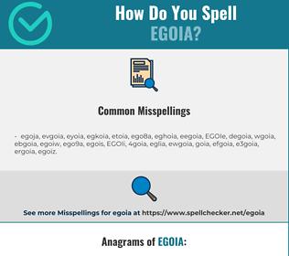 Correct spelling for EGOIA