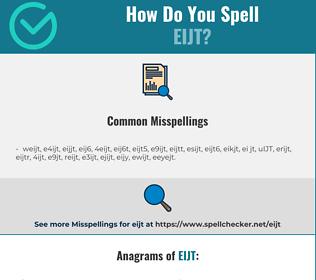 Correct spelling for EIJT