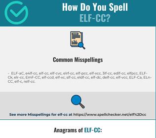 Correct spelling for ELF-CC