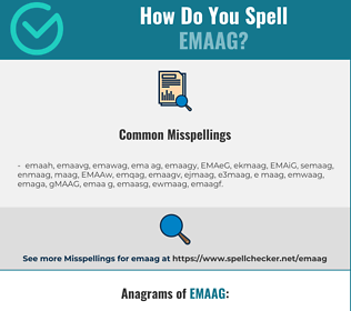 Correct spelling for EMAAG