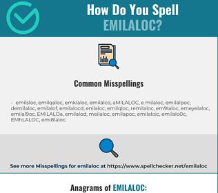 Correct spelling for EMILALOC