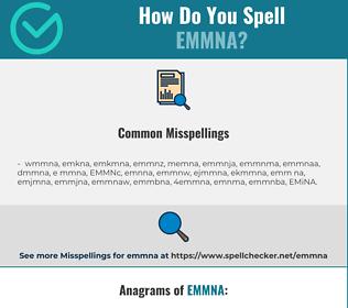 Correct spelling for EMMNA