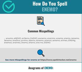 Correct spelling for ENEMO