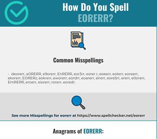 Correct spelling for EORERR
