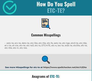 Correct spelling for ETC-TE