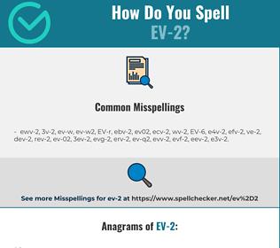 Correct spelling for EV-2