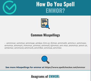 Correct spelling for Emmor
