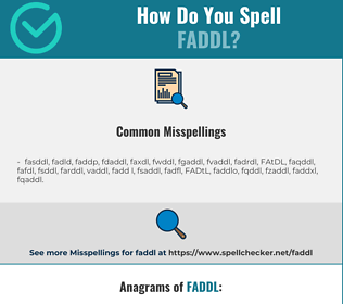 Correct spelling for FADDL