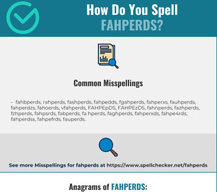 Correct spelling for FAHPERDS