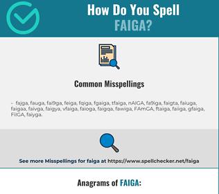 Correct spelling for FAIGA