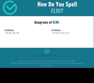 Correct spelling for FLNI