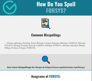 Correct spelling for FORSYS