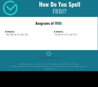 Correct spelling for FRBI