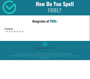 Correct spelling for FRBL