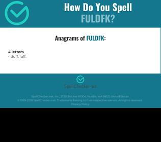 Correct spelling for FULDFK