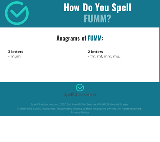 Correct spelling for FUMM