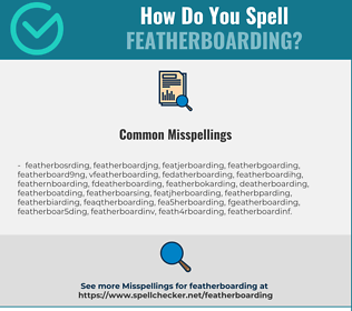 Correct spelling for Featherboarding