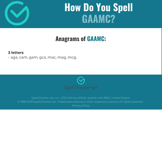 Correct spelling for GAAMC