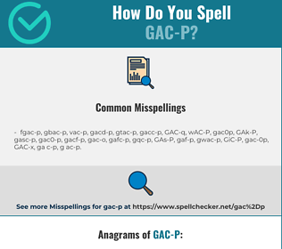 Correct spelling for GAC-P