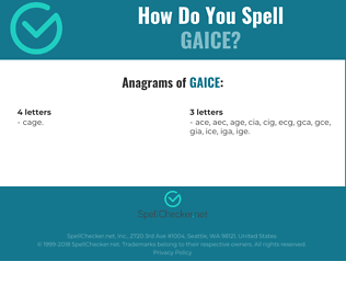 Correct spelling for GAICE