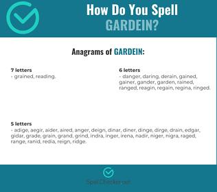 Correct spelling for GARDEIN
