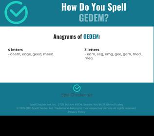 Correct spelling for GEDEM