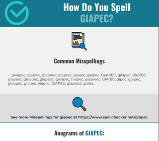 Correct spelling for GIAPEC