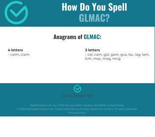 Correct spelling for GLMAC