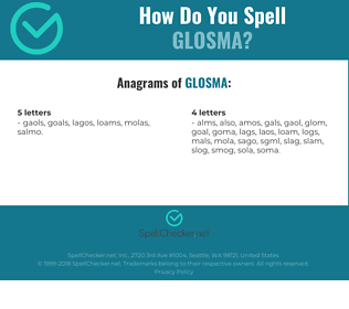 Correct spelling for GLOSMA