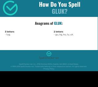 Correct spelling for GLUK