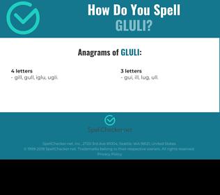 Correct spelling for GLULI