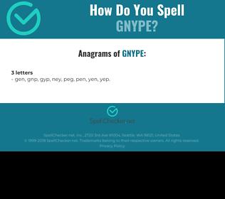 Correct spelling for GNYPE