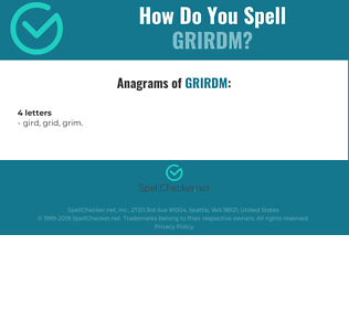 Correct spelling for GRIRDM