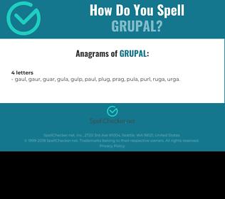 Correct spelling for GRUPAL