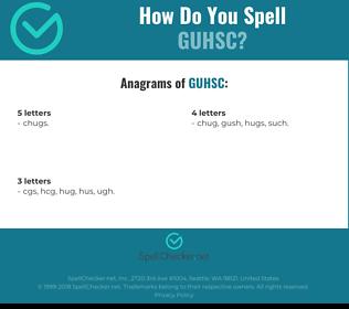 Correct spelling for GUHSC