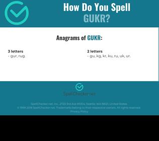 Correct spelling for GUKR