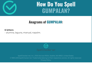 Correct spelling for GUMPALAN