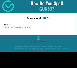 Correct spelling for GUNZO