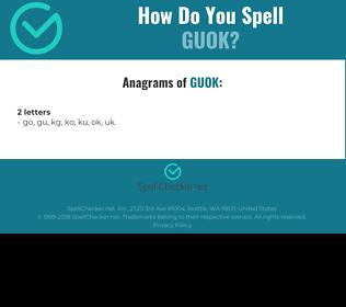 Correct spelling for GUOK