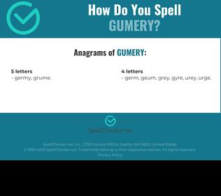 Correct spelling for Gumery