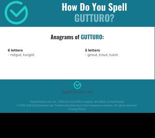 Correct spelling for Gutturo
