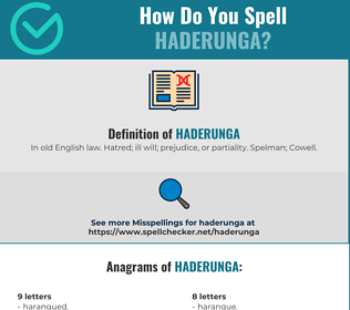 Correct spelling for HADERUNGA