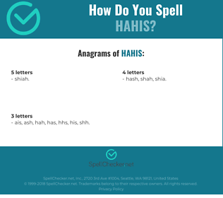Correct spelling for HAHiS