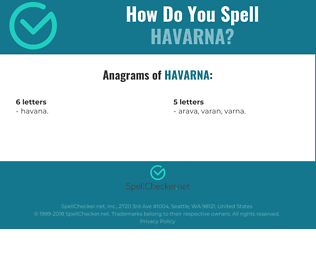 Correct spelling for HAVARNA