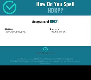 Correct spelling for HDKP