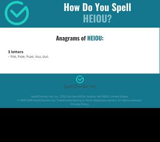 Correct spelling for HEIOU