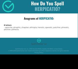 Correct spelling for HERPICATIO