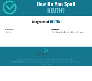 Correct spelling for HEUTH